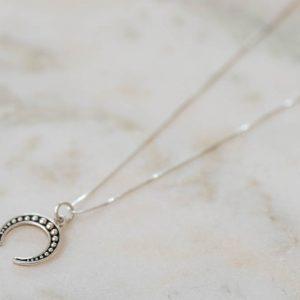 Necklace Half-Moon-925-Sterling-Silver-Left-Laura-Design