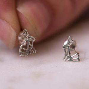 Earstud-Artistic-Rabbit-925-Sterling-Silver-lookbook-Laura-Design
